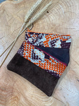 "Coin Purse | Orange Scale Patterns | Leather | 3""x 5"" 