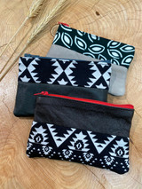 "Coin Purse | Black & White Patterns | Leather | 3""x 5"" 