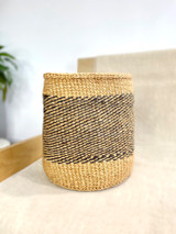 Kiondo Basket - Natural Brown with Black Pattern | 10"