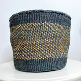 Kiondo Basket - Grey with Banana Stem Pattern  | 10"