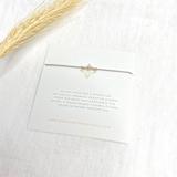 3 Wish Bracelet ~ Silver | Grey | Handmade in Victoria