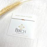 3 Wish Bracelet ~ Rose Gold | Grey | Handmade in Victoria