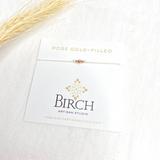 3 Wish Bracelet ~ Rose Gold | White | Handmade in Victoria