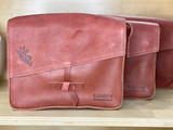 Genuine Leather Satchel/Messenger Bag - Small   Reddish Brown   Unisex   Handmade in Kenya