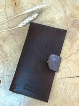 Womens Wallet | Genuine Leather - Dark Brown | Handmade in Kenya