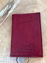 Genuine Leather Cardholder | Maroon | Unisex | Handmade in Kenya