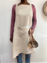 Apron   Natural - Linen/Cotton   Handmade in Vancouver