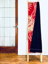 Kantha Quilt | Queen | Red with Sunbursts | Recycled Saris | Handmade in Bangladesh