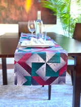 Table Runner | African Kitenge - Multi-colour Geometric Dots | Handmade in Kenya