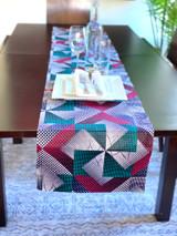 Table Runner | African Kitenge - Multi-colour Geometric Dots | Handmade in Kenya