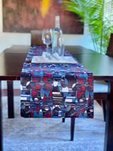 Table Runner | African Kitenge - Red/Blue/Green Geometric | Handmade in Kenya
