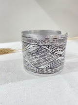 Cuff Metal Bracelet | Diamond Silver | Handmade In Kenya