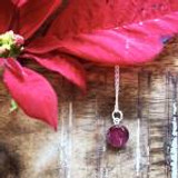 Poinsettia  Necklace, 8mm ~ Silver | Handmade in Victoria