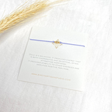 3 Wish Bracelet ~ Gold | Light Purple | Handmade in Victoria