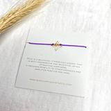 3 Wish Bracelet ~ Gold | Purple | Handmade in Victoria