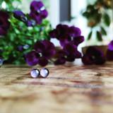 Purple Violet Studs, 5mm ~ Gold | Handmade in Victoria