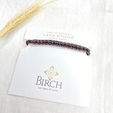 Gemstone Single Wrap Bracelet ~ Lava Stone | Handmade in Victoria