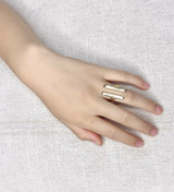 Hand-Hammered Ring | Eleven | Gold Brass | Hand Hammered in Kenya