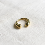Hand-Hammered Ring | Open Circle | Gold Brass | Hand Hammered in Kenya