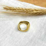 Hand-Hammered Ring | Open-Circle Ring - Men's | Gold Brass | Hand Hammered in Kenya