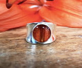 Tiger Lily Chunky Ring | Silver | Handmade in Victoria