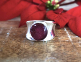 Poinsettia Chunky Ring | Silver | Handmade in Victoria