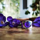 Prairie Crocus Chunky Ring | Silver | Handmade in Victoria