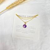 Prairie Crocus Necklace, 8mm ~ Gold | Handmade in Victoria