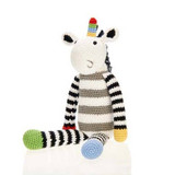 Unicorn Rattle | Black/White | Pebble Canada | Handmade in Bangladesh
