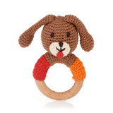 Wooden Teething Ring | Rattle - Dog | Pebble Canada | Handmade in Bangladesh
