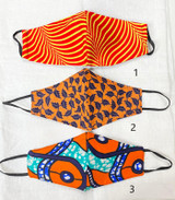 Designer Cloth Masks | Orange Designs | Handmade in Kenya