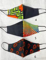 Designer Cloth Masks   Orange Designs   Handmade in Kenya
