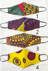 Designer Cloth Masks | Yellow Designs | Handmade in Kenya