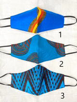 Designer Cloth Masks | Light Blue Designs | Handmade in Kenya