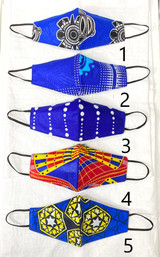 Designer Cloth Masks | Dark Blue Designs | Handmade in Kenya