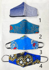 Designer Cloth Masks - Kids | Blue Designs | Handmade in Kenya
