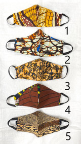 Designer Cloth Masks - Kids | Brown Designs | Handmade in Kenya