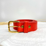 Belt Classic | Red | Genuine Leather | Handmade in Kenya