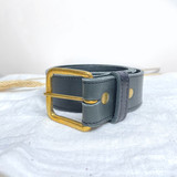 Belt Classic | Dark Grey | Genuine Leather | Handmade in Kenya