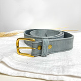 Belt Classic | Blue Grey | Genuine Leather | Handmade in Kenya