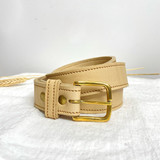 Belt Classic | Beige | Genuine Leather | Handmade in Kenya