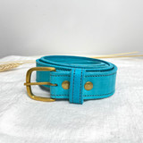 Belt Classic | Teal | Genuine Leather | Handmade in Kenya