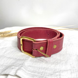 Belt Classic | Burgundy | Genuine Leather | Handmade in Kenya