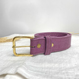 Belt Classic | Dark Purple | Genuine Leather | Handmade in Kenya