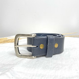 Belt Classic | Dark Blue | Genuine Leather | Handmade in Kenya