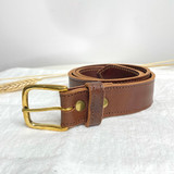 Belt Classic | Light Brown | Genuine Leather | Handmade in Kenya