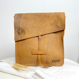 Genuine Leather Satchel/Messenger Bag | Tan Brown Texture | Unisex | Handmade in Kenya