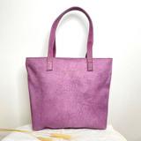 Genuine Leather Tote Bag | Purple Textured | Handmade in Kenya
