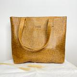 Genuine Leather Tote Bag | Tan Brown Textured | Handmade in Kenya