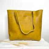 Genuine Leather Tote Bag | Mustard Textured | Handmade in Kenya